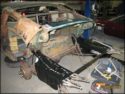 classic car restoration photo 2 kiss auto body and frame shop mn - Mustang Frame