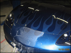 Custom Flame Decals And Paint At Kiss S Auto Body And Corvette